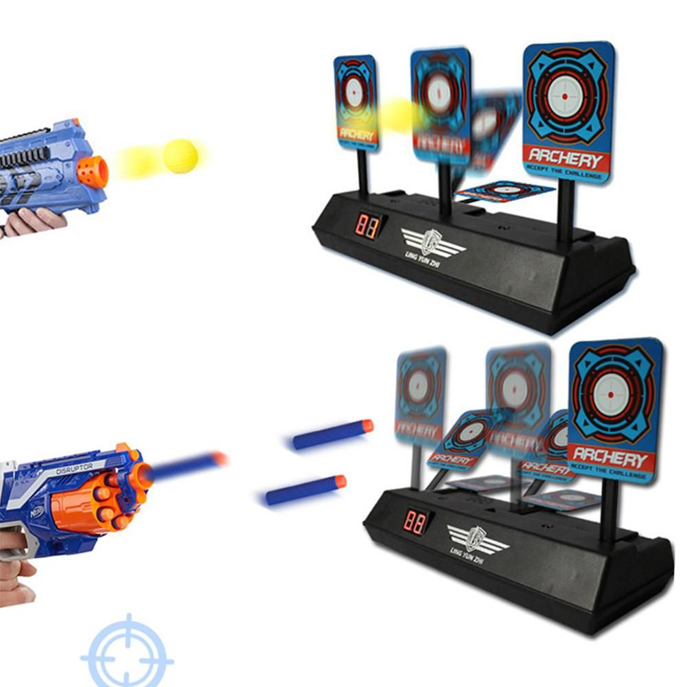 2018 New Children Electric Score Bullet Target Toy for Nerf Toys Soft Bullets Blaster for kid toys