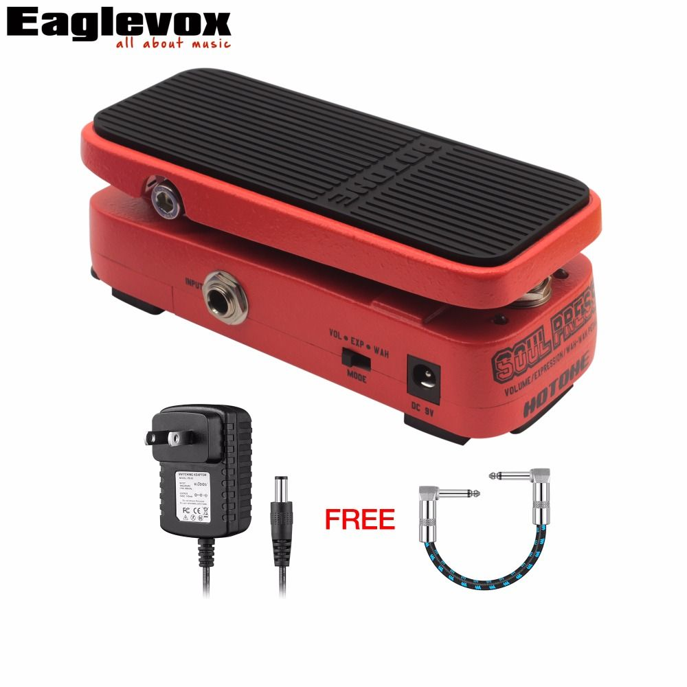 Hotone Soul Press Volume/Expression/Wah Wah Guitar Pedal CRY BABY SOUND Multi Functional Pedal with Free Power Adapter and Cable