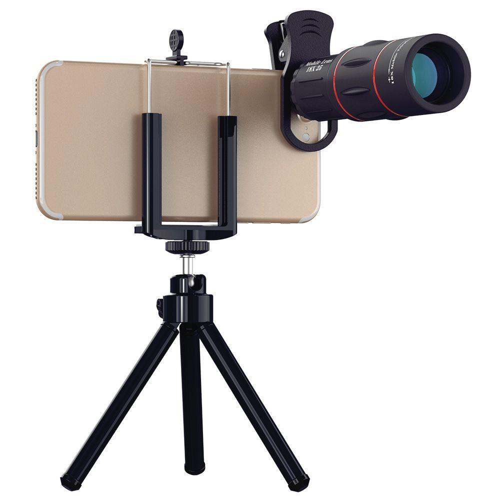 18X Universel Télescope Optique Zoom clip Telefon Mobile Téléphone Camera Lens pour l'iphone Samsung Xiaomi Smartphones