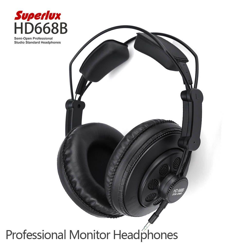 Auricul Superlux HD668B Professional Semi-open Studio Standard Dynamic Headphones Monitoring For Music Detachable deep Bass