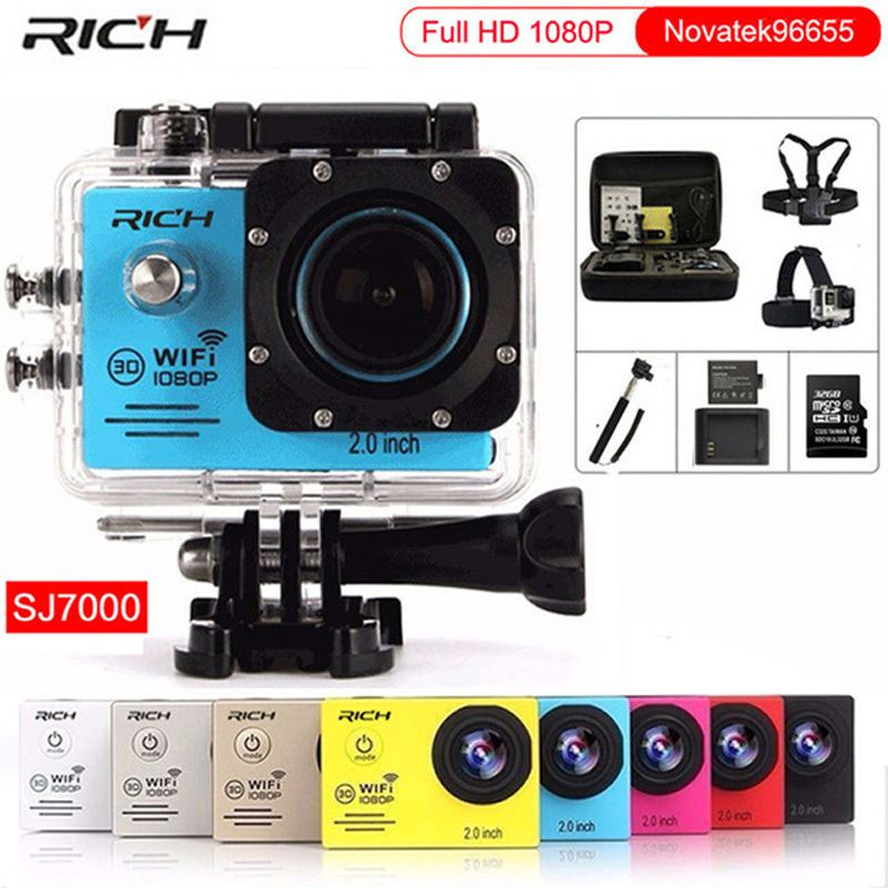 Action camera gopro hero 4 Stlye Full HD 1080P 30FPS Novatek96655 Wifi waterproof 30m Diving outdoor Sport camera