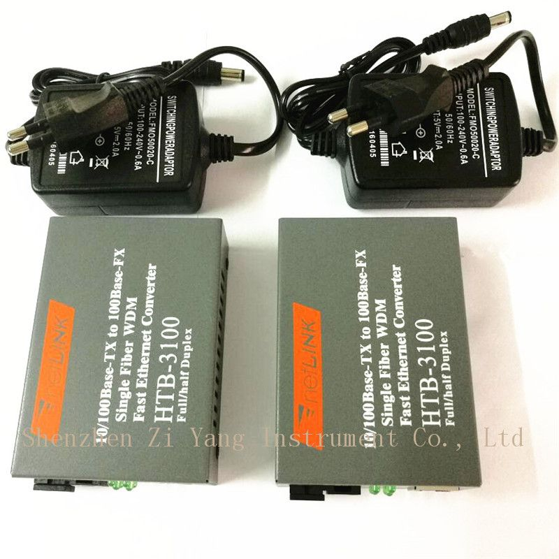Htb-3100ab Optical Fiber Media <font><b>Converter</b></font> Fiber Transceiver Single Fiber <font><b>Converter</b></font> 25km SC 10/100M Singlemode Single Fiber 1 pair