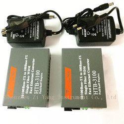 Htb-3100ab Optik Serat Media Konverter Serat Transceiver Tunggal Serat Konverter 25 KM SC 10/100 M Singlemode Serat Tunggal 1 Pair
