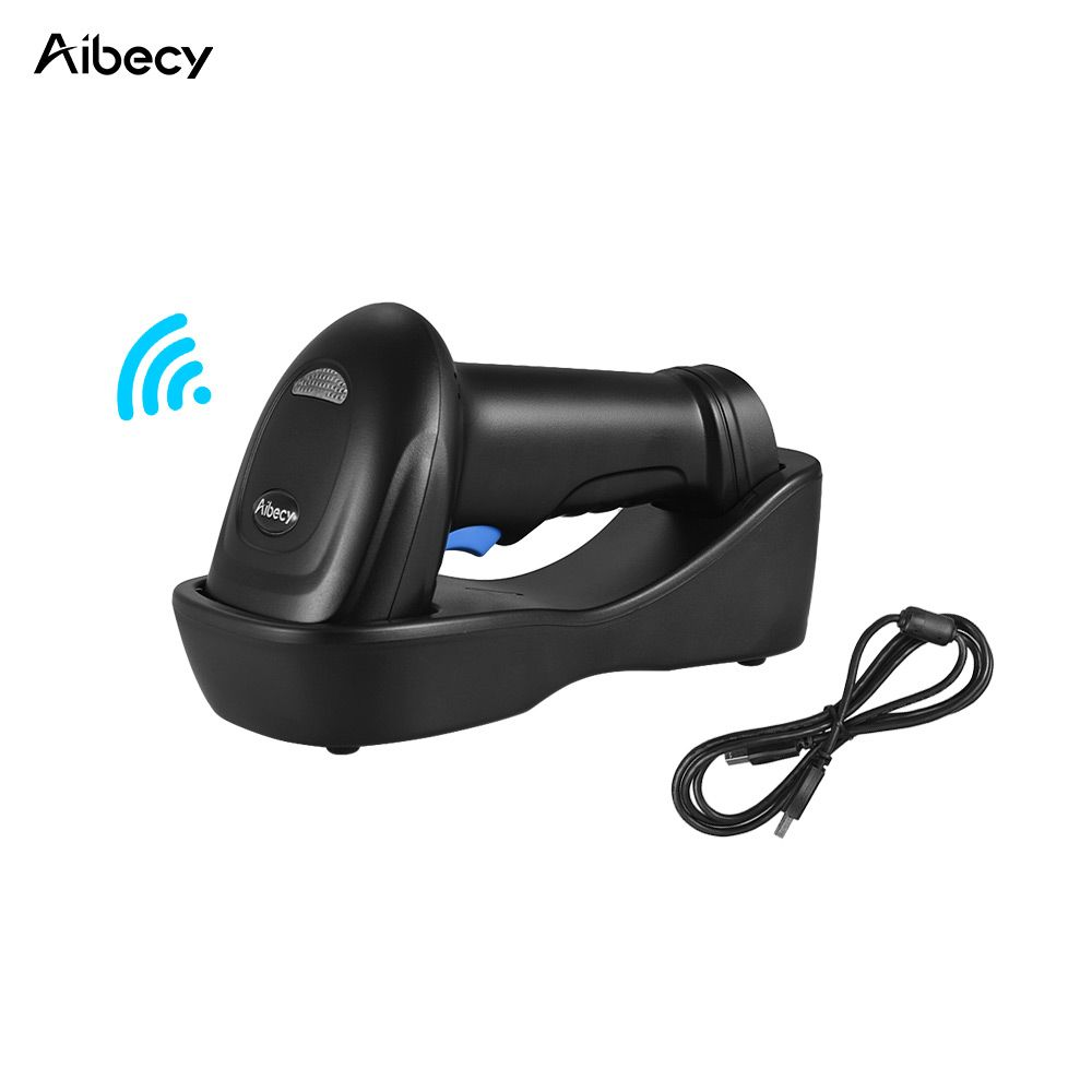 Aibecy WM3L 433MHz Wireless 1D 2D Auto Image Barcode Scanner Handheld QR code PDF417 Bar Code Reader