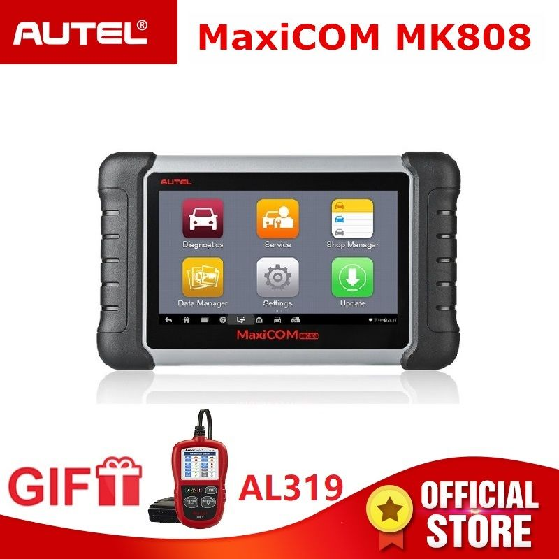 Autel MaxiCOM MK808 OBD2 Diagnostic Tool ODB2 scanner automotive code reader key programming IMMO DPF TMPS PK MX808 Gift AL319