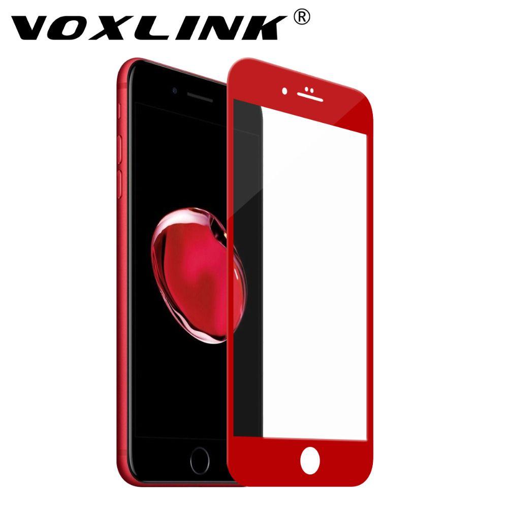 Pour iPhone 8/iPhone 7 Protecteur D'écran En Verre, VOXLINK 5D Pleine Couverture Bord Trempé Protecteur D'écran En Verre pour iPhone 8/7 4.7 pouce