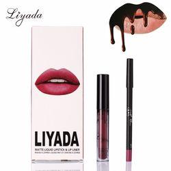 LIYADA largo hidratante labio Kit Kilie nuevo desnudo Lipgloss labios Kyliejenner labios líquido Lipstick terciopelo