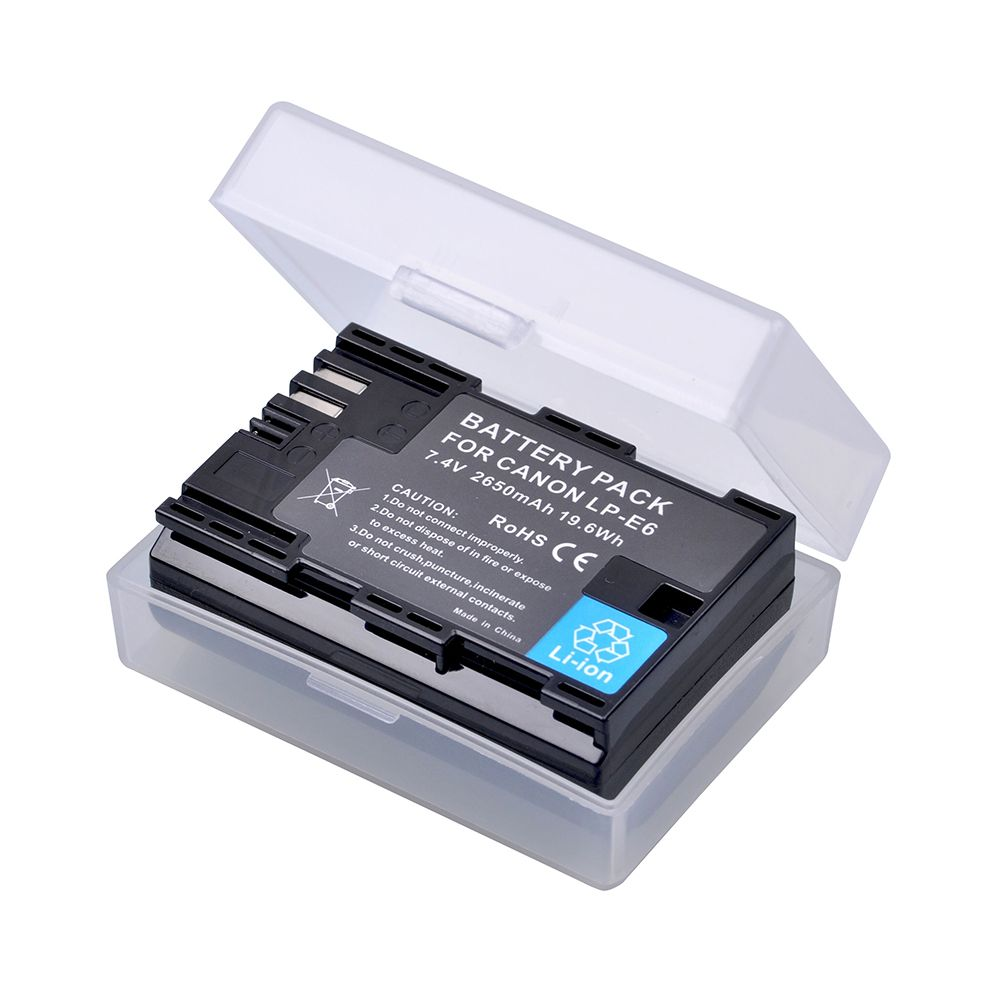 1pc LP-E6 LPE6 LP E6 LP-E6N Rechargeable Li-ion Battery 2650mAh For Canon EOS 5DS R 5D Mark II 3 5D Mark III 6D 7D 60D 60Da 70D