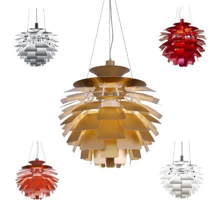 Free Shipping Hot Selling Louis Poulsen PH Artichoke Lamp ,120v/230v Denmark pendant light Dia 40-100CM