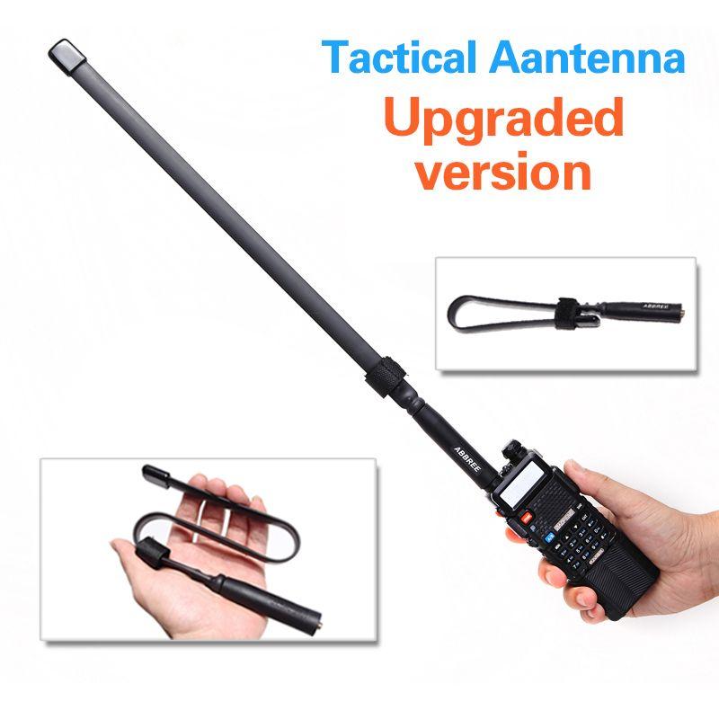 ABBREE SMA-Connecteur Femelle Double Bande 144/430 mhz Pliable CS Tactique Antenne Pour Talkie Walkie Baofeng UV-5R UV-82 Ham Radio