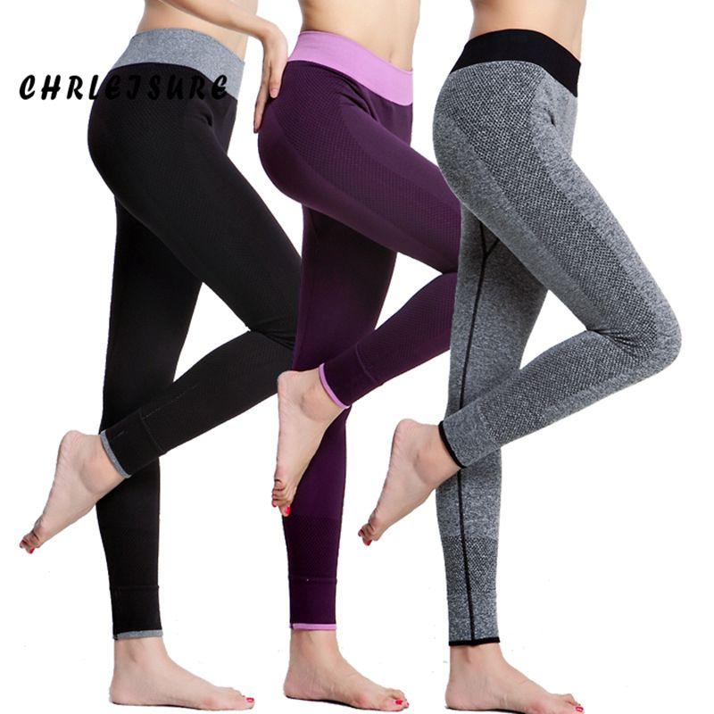 CHRLEISURE Women Leggings Spandex Slim Elastic Comfortable High Waist Super Stretch Workout Trousers Sporting Leggings Women