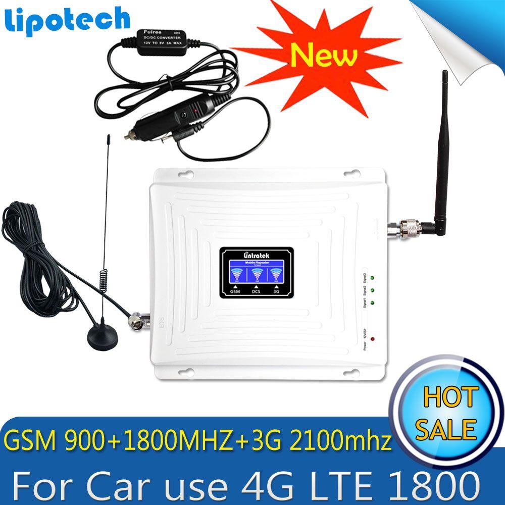 Pkw-nutzung Repetidor Tri-band GSM 900 WCDMA 2100 LTE 1800 2G 3G 4G Handy Signal Booster Zellulären GSM Signalverstärker Verstärker