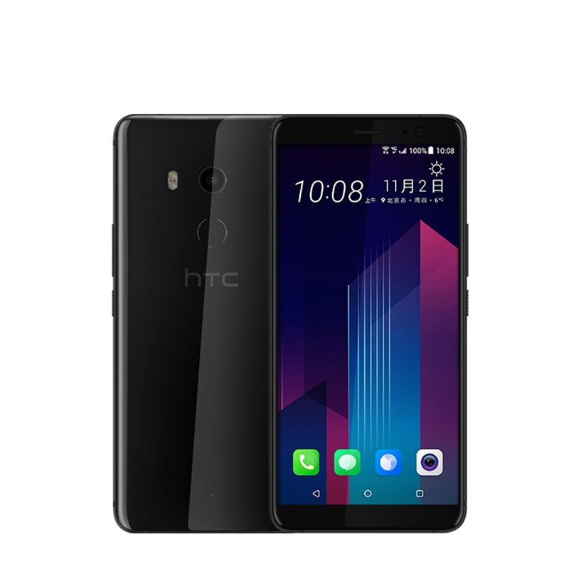Original HTC U11 Plus Snapdragon 835 6GB RAM 128GB ROM Mobile Phone Octa Core 6.0inch Android 8.0 1440x2880px IP68 Waterproof