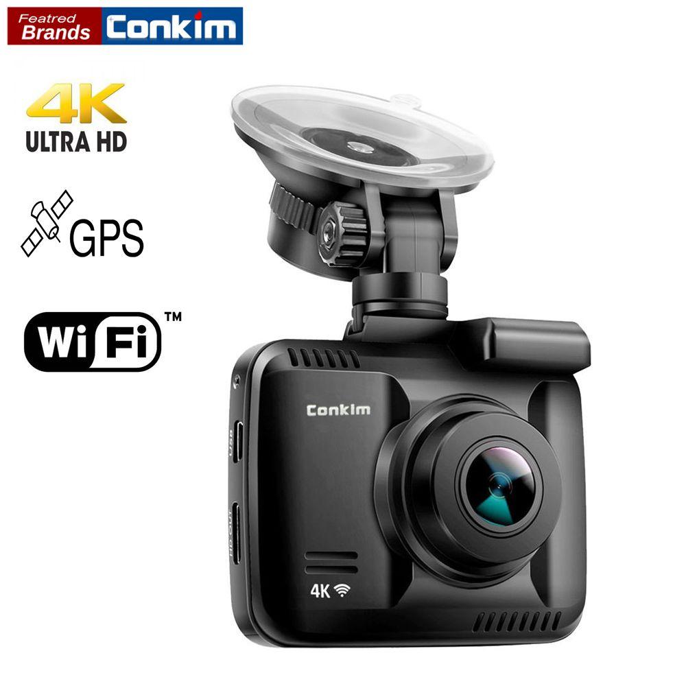 Conkim Car Dash Camera Wifi Recorder GPS HD DVR GS63H 4K Ultra HD 2160P Driving Recorder Auto Registrar Wifi Camera 32GB TF Card