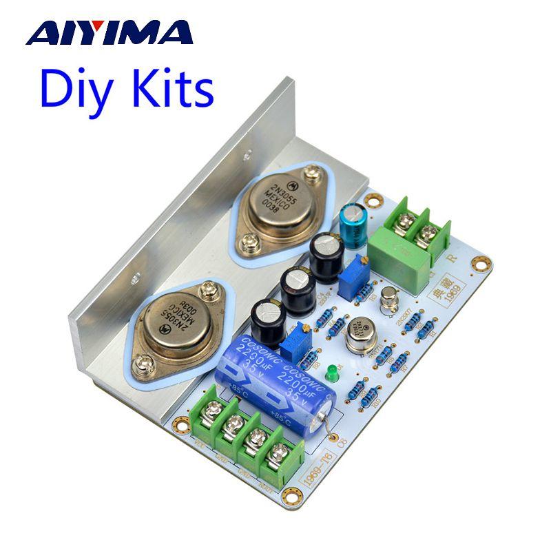 Aiyima 1 шт. jlh 1969 класс усилителя доска высокого качества pcb mot/2N3055 DIY Наборы