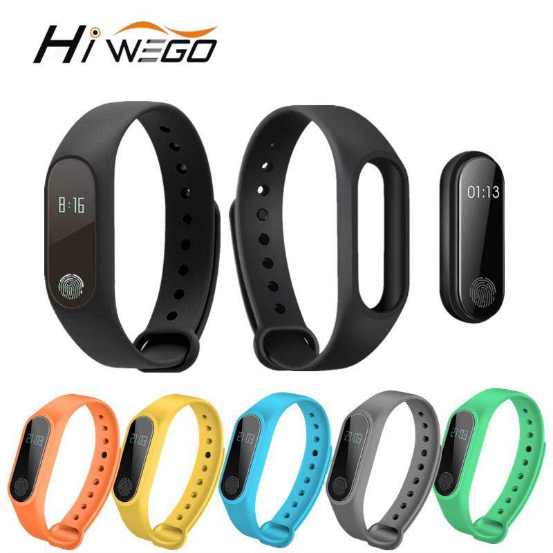 Hiwego Smart Bracelet M2 Smart Bracelet Moniteur de Fréquence Cardiaque Podomètre Étanche Bluetooth Pour iOS Android Pour Hommes Femmes