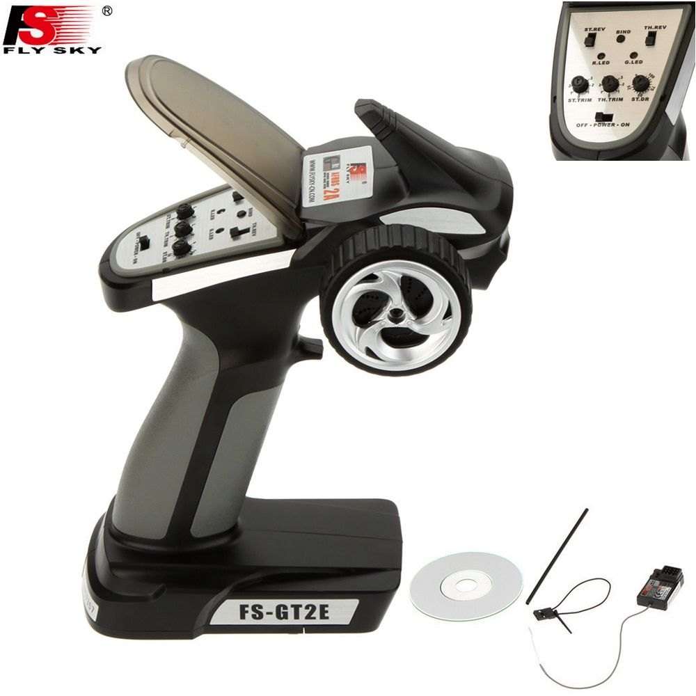 Flysky FS-GT2E AFHDS 2A 2.4g 2CH Radio System <font><b>Transmitter</b></font> for RC Car Boat with FS-A3 Receiver Drop freeship