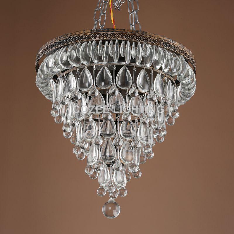 Vintage Chandeliers LED Lighting Modern Glass Drops Chandelier Light lustres de cristal for Home Hotel Wedding Decoration