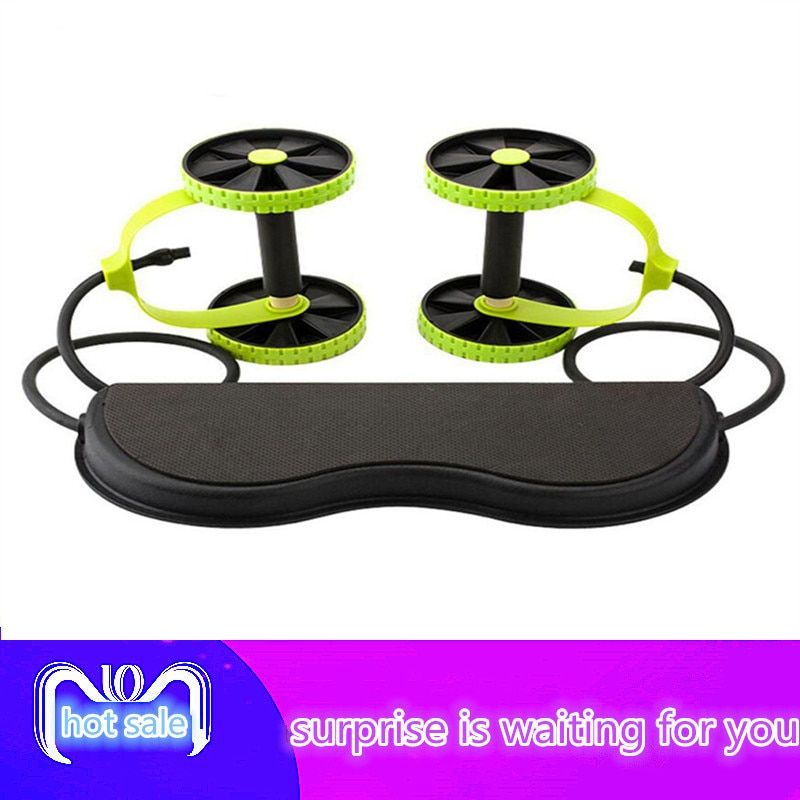 Abdominal Wheel Abdominal Muscle Trainer Fitness Abdominal Roller Trainer ABS Workout Kit Crossfit Abdominal Exerciser HWC