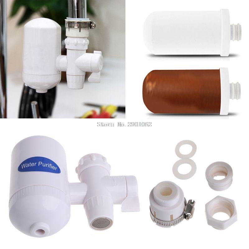 Дома Кухня разрешается химическая чистка Керамика картридж кран водопроводной воды Чистый фильтр очиститель-B119