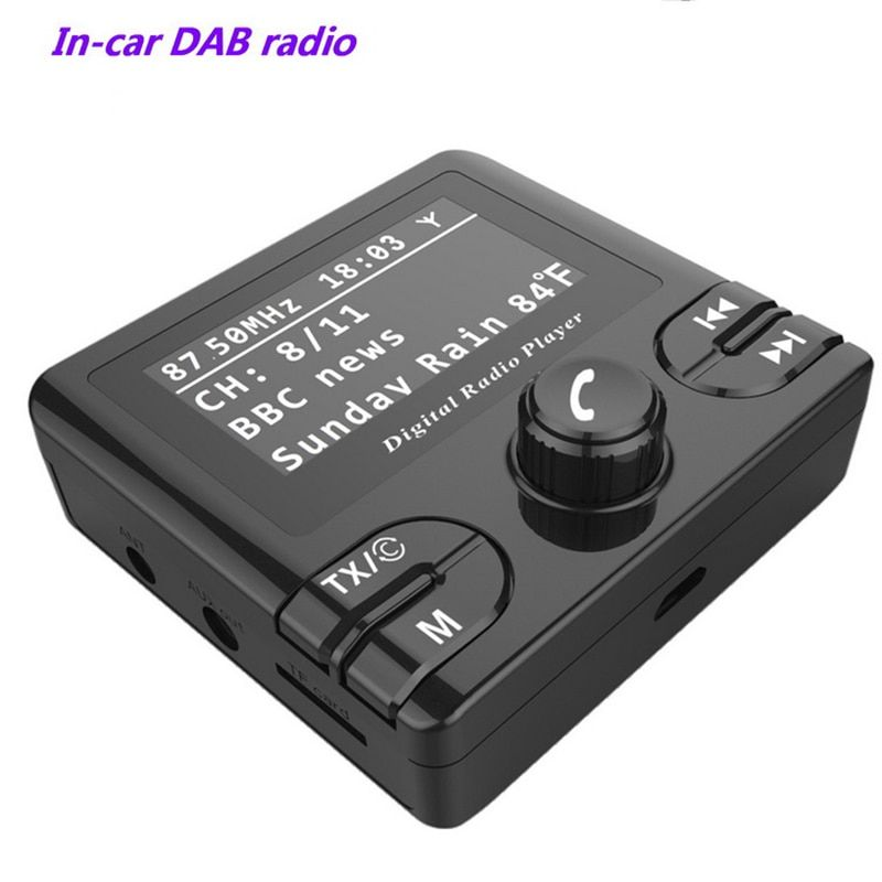 Car Dab GPS Receiver DAB/DAB+ In-car Radio Bluetooth Wireless FM Transmitter DAB+ Autoradio Adapter Tuner Audio Output