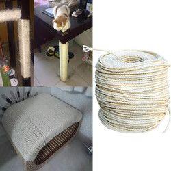 3 M sisal cuerda para gatos rascarse juguetes que hace DIY escritorio silla taburete piernas encuadernación cuerda material para enfocar garra