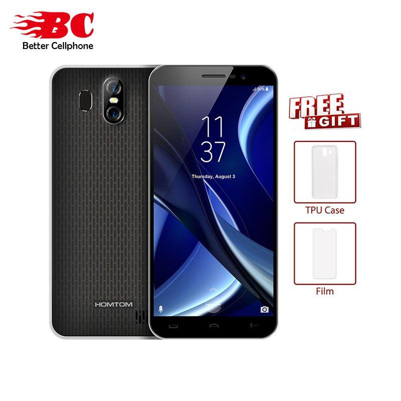 HOMTOM S16 18:9 5.5 MT6580 Quad Core 3000mAh 1300MP Fingerprint 1280*640P Android 7.0 2GB+16GB Rear13.0MP+<font><b>2.0MP</b></font> OTA Mobilephone