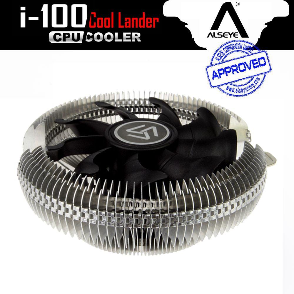 ALSEYE i-100 CPU Refroidisseur, en aluminium Radiateur avec 90mm Ventilateur CPU Radiateur 2000 RPM Refroidisseur pour LGA 775/115x