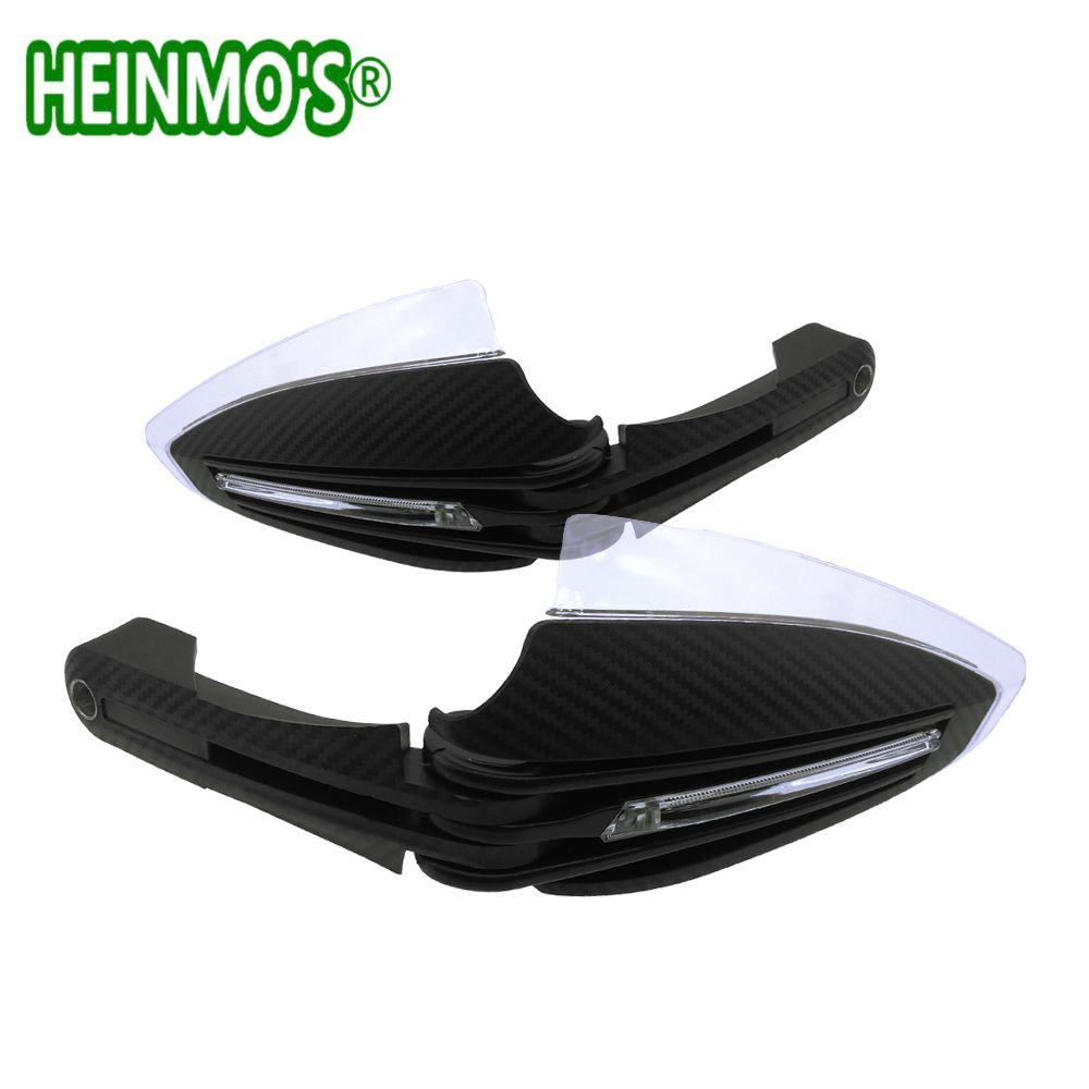 Motocross Protection Parts Hand guards with LED Running Light White Yellow Handguards for Yamaha FZ1 MT-09 Tmax 500 28mm 22mm