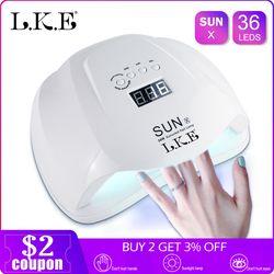LKE SUNX 48 Вт 54 Вт Сушилка для ногтей УФ светодиодный Гель-лак отверждения лампы с нижней 30 s/60 s таймер ЖК-подсветка витрины для сушки ногтей