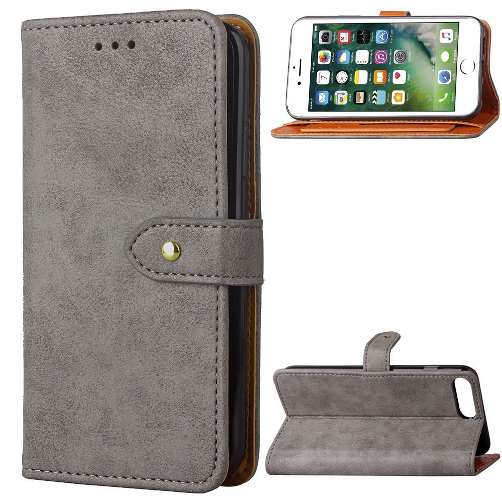 5.5 inch Soft Feel touch Case for Apple iPhone 7 Plus Wallet Rotary card Covers Flip Leather Cases black Cover for iPhone7 Plus