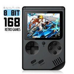 Consola de videojuegos 8 poco Retro Mini Pocket jugador Handheld del juego incorporado 168 juegos clásicos mejor regalo para niño nostálgico jugador