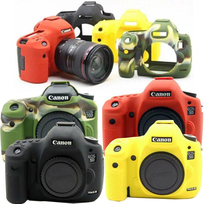 Belle peau de boîtier de protection en caoutchouc Silicone souple pour Canon 6D 6D2 5D3 5D4 80D 800D 1300D 1500D 750D sac photo