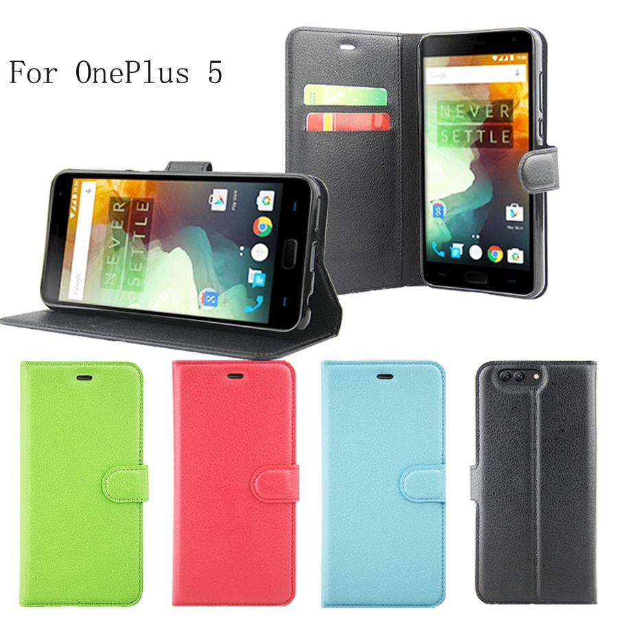 high quality PU skin leather case For OnePlus 5 A5000 Case Cover Shield Bag