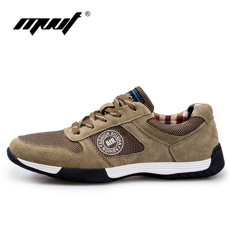 2017 Spring comfortable Retro running shoes sneakers Genuine Leather men sports shoes good quality outdoor walking shoes men