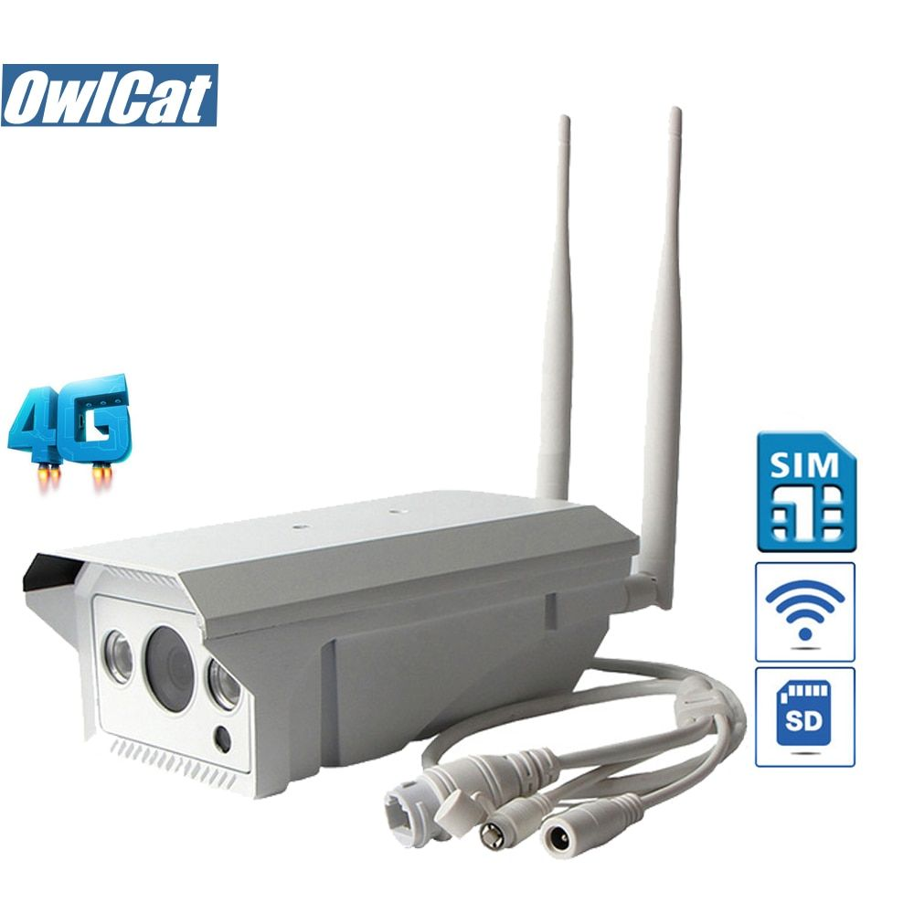 OwlCat Waterproof Bullet IP Camera WIFI Outdoor GSM 3G 4G SIM Card HD 1080P 960P IR SD Slot P2P AP Motion Security CCTV Camera