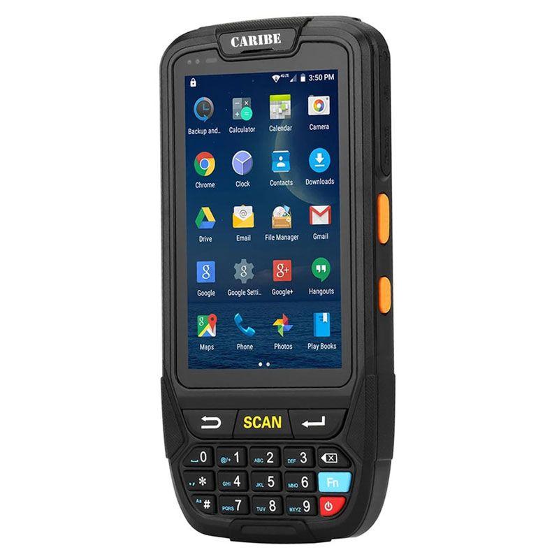 CARIBE 1D 2D Barcode Scanner Handheld Terminal PDA Neueste Design Unterstützung 4G Kommunikation Android 7.0
