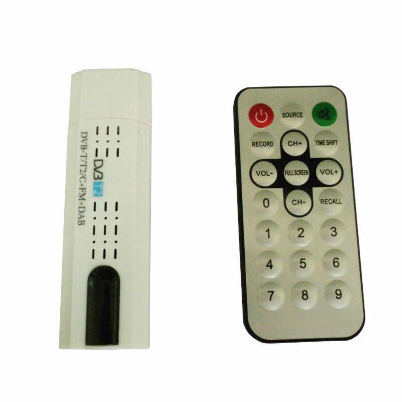 Tuner numérique DVB T2 USB avec télécommande d'antenne récepteur HDTV USB2.0 pour DVB-T2 DVB-C FM DAB dvb-t2 clé usb