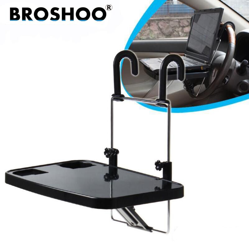 BROSHOO Car Laptop Desk Notebook Stand Pallet Folding Table Dining Table Car Computer Rack Shelves,Auto Suppilers Car-Styling