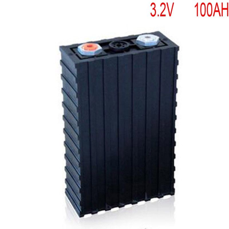 4pcs/lot Rechargeable 3.2V 100Ah Lithium ion LiFePO4 Battery model Batteries for EV/UPS/BMS/Power storage/solar power system