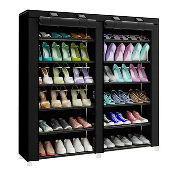 Модный минималистичный креативный нетканый двухрядный органайзер для домашней обуви современный шкаф для обуви многоцелевой стеллаж для ...