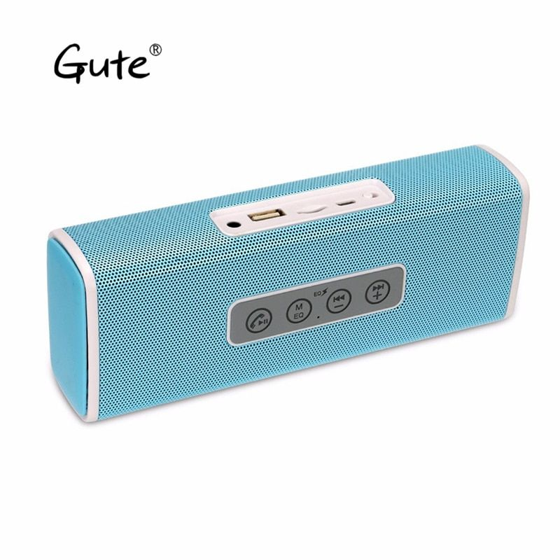 Gute hot Bluetooth wireless square bass Radio FM handfree call outdoor 3D Stereo Loudspeaker enceinte bluetooth portable F4 abe