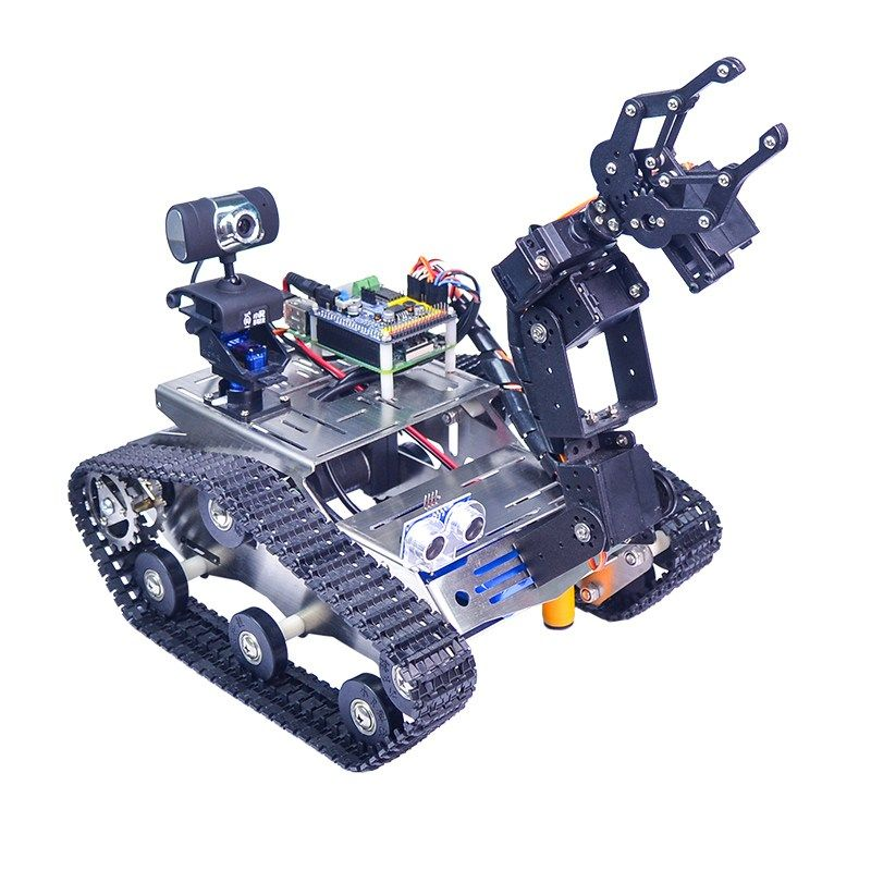 Xiao R WiFi Video Robot Arm Car with Gimbal Camera Raspberry Pi 3 Built-in Bluetooth Wifi Module Science RC Toys