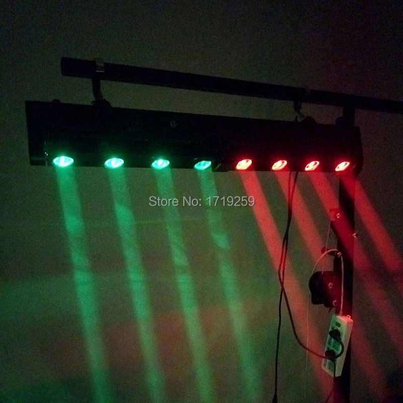 LED Bar Beam Moving Head Light RGBW 4x12W+4x12W Perfect For Mobile DJ Party Nightclub SHEHDS Stage Lighting
