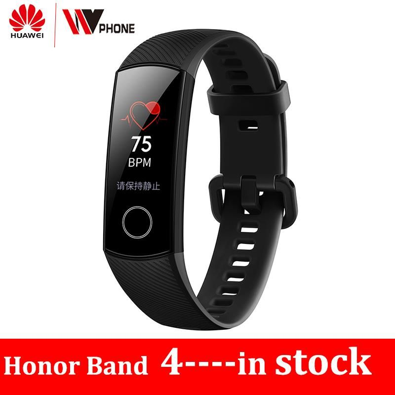 Original Huawe Honor Band 4 Smart Bracelet 50m Waterproof Color ouch screen Heart Rate Sleep Snap Smart Wristband
