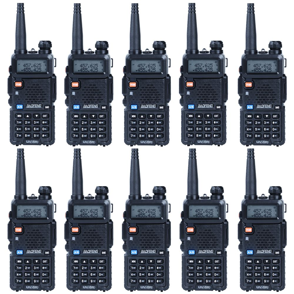 10PCS/Lots Baofeng UV 5R Walkie Talkie CB Radio for 128 Channel Dual Band Two Way Radio