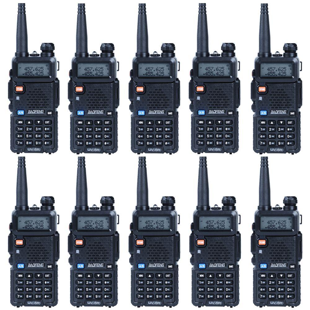 10PCS/Lots Baofeng UV 5R Walkie Talkie CB Radio for 128 Channel Dual Band Two Way Radio