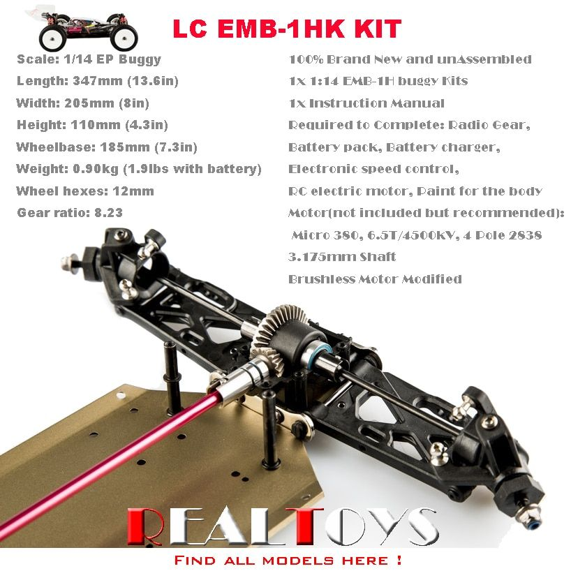 LC RACING 1:14 Off Road 4WD RC Car Buggy Chassis KIT Unassembled #EMB-1HK