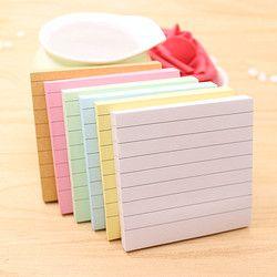 80 Pages/Set Soild Couleur Bloc-Notes Diy Post Il Kawaii Papeterie École Ensemble de Papeterie Fournitures de Bureau Bloc-Notes Mignon Notes autocollantes