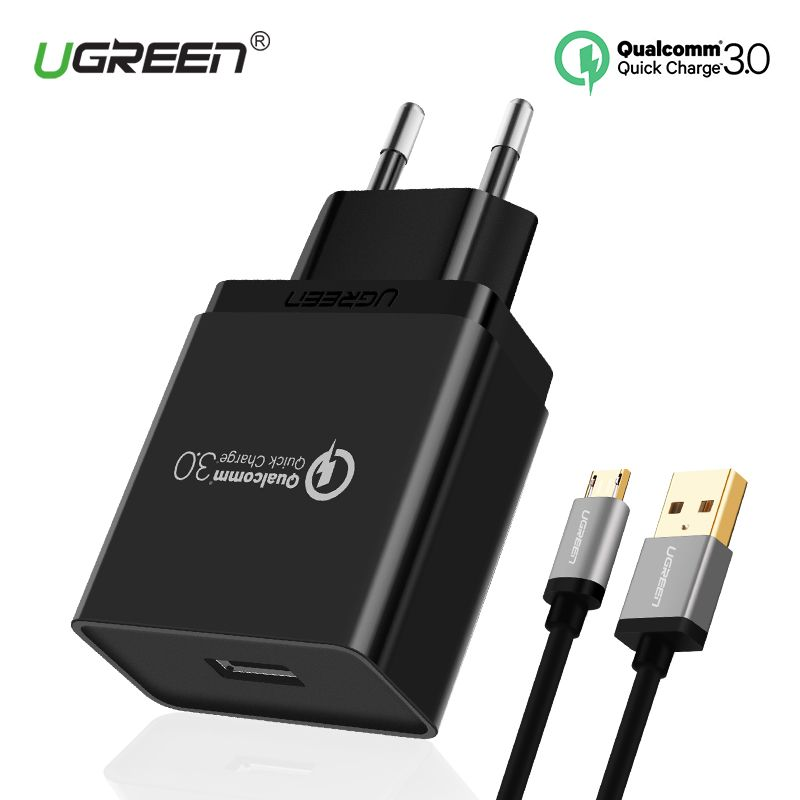 Ugreen 18W Phone USB Charger Quick Charge 3.0 <font><b>Fast</b></font> Mobile Phone Charger USB Adapter for Samsung Galaxy S8/S8+/S7/S6/Edge/Nexus 5